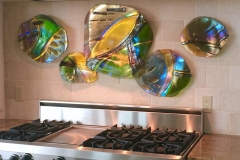 Kitchen fused art pieces